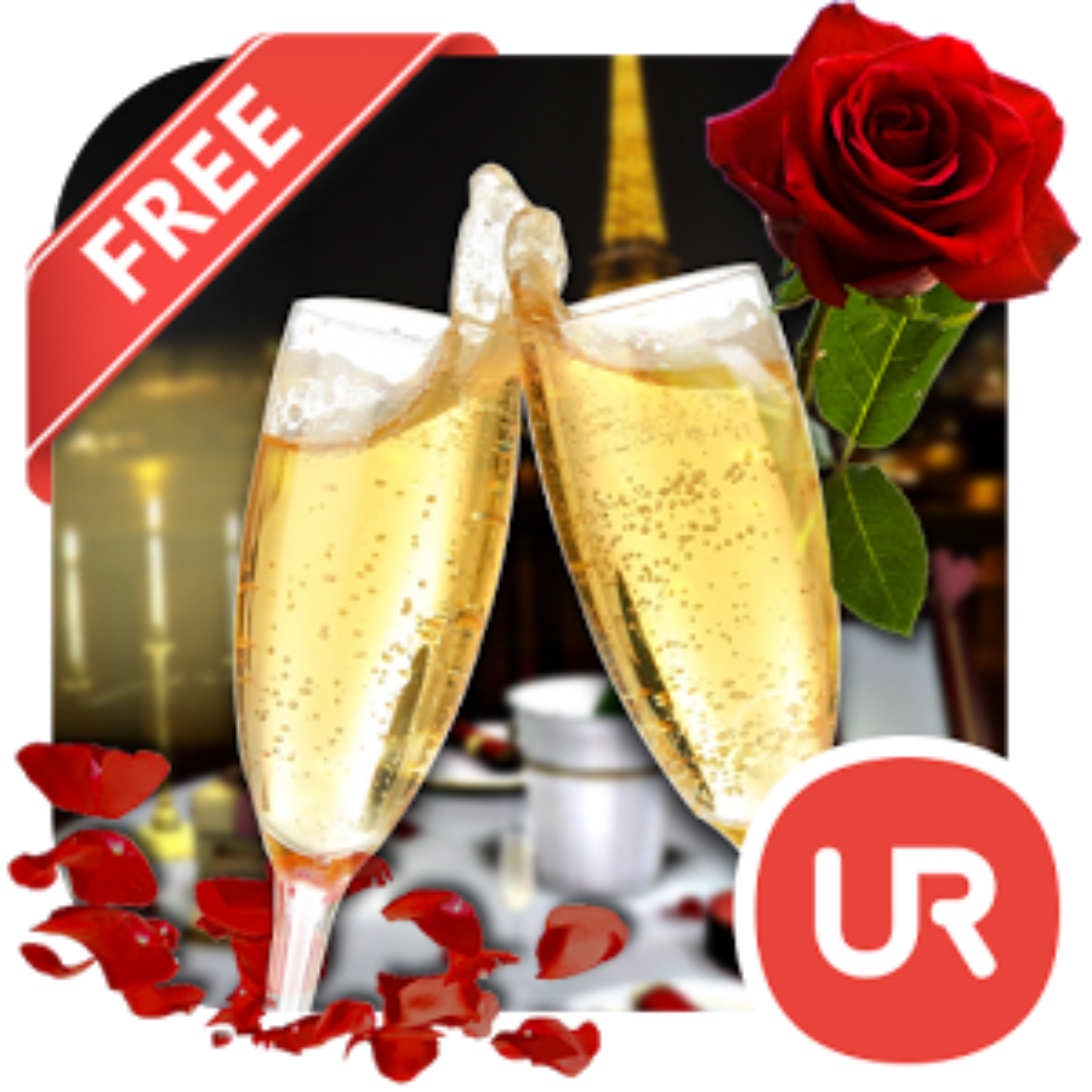 UR 3D Romantic Date Wallpaper