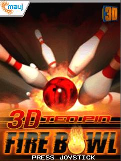 3D Ten-Pin Fire Bowl