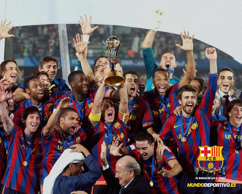 Tapety FC Barcelona 6 Pucharów