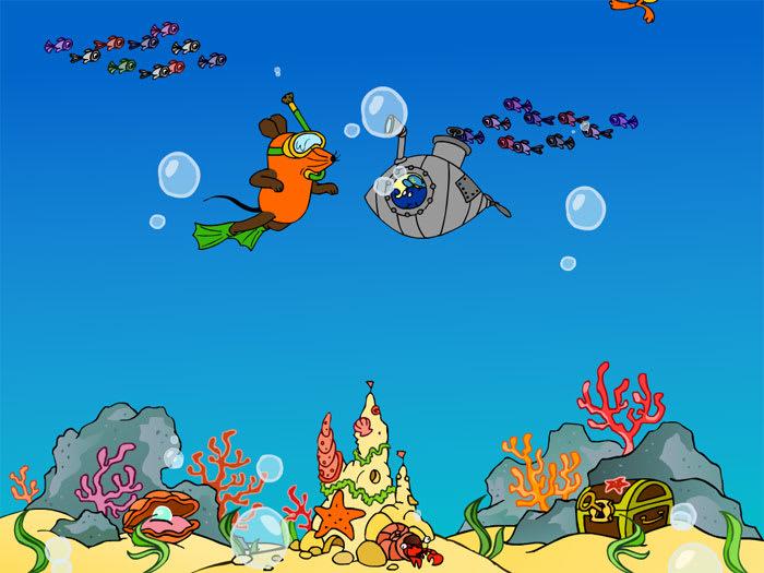 Bildschirmschoner Unter Wasser mit der Maus