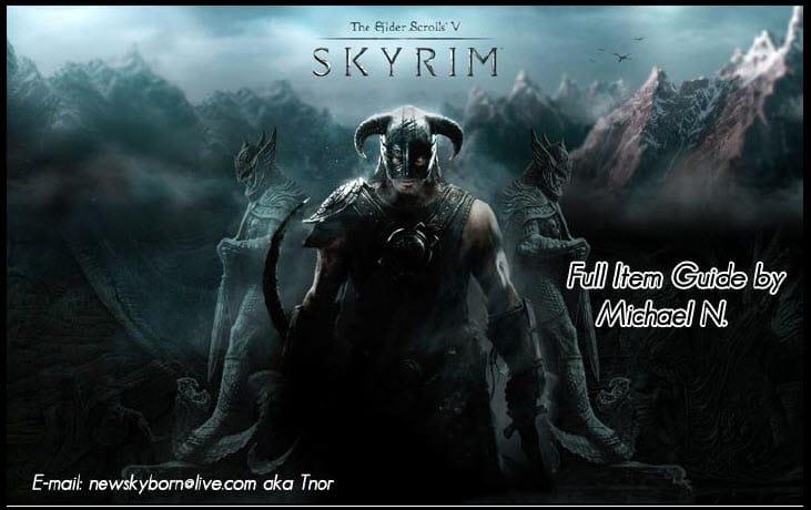Skyrim Full Item Guide