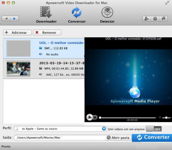 Downloader de Vídeo da Apowersoft para Mac