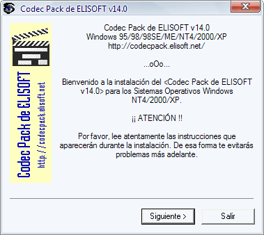 Elisoft Codec Pack