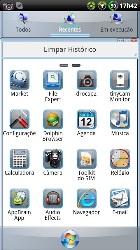 Windows 7 GO Launcher EX Theme