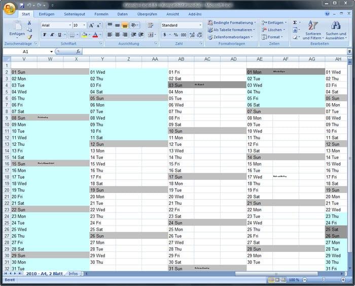 Schön Stündliche Kalendervorlage Excel Fotos - Dokumentationsvorlage ...