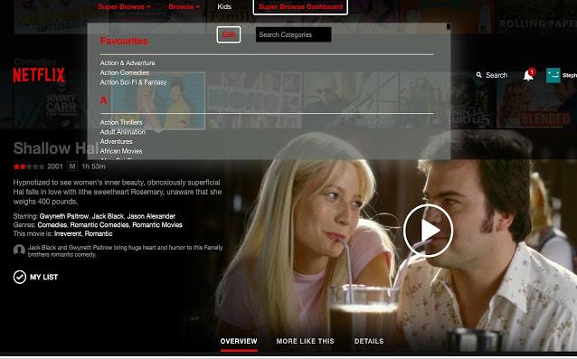 Super Browse for Netflix