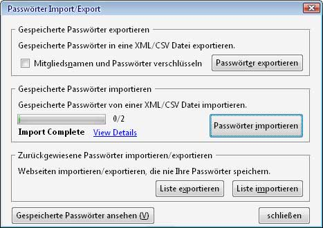 Password Exporter