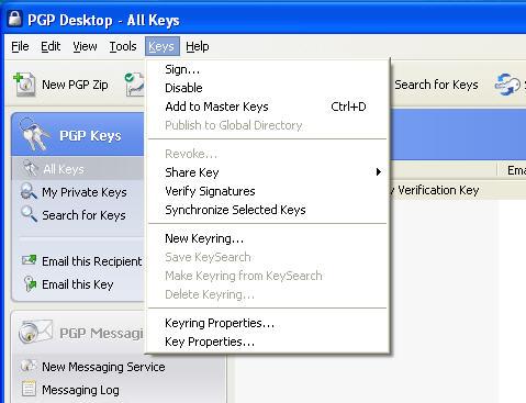 PGP Desktop Home