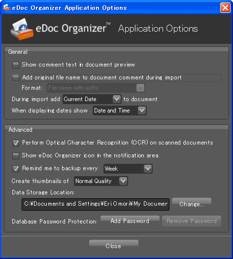 eDoc Organizer