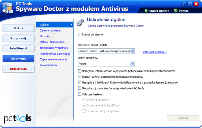 PC Tools Spyware Doctor z modułem Antivirus