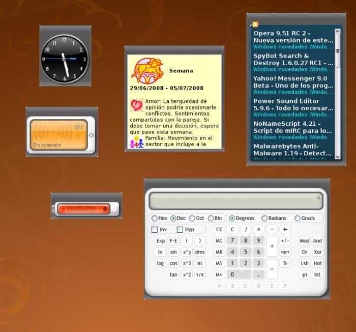 Google Gadgets for Linux