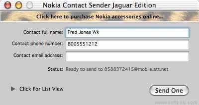 Nokia Contact Sender Jaguar Edition
