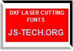 DXF LASER CUTTING FONTS