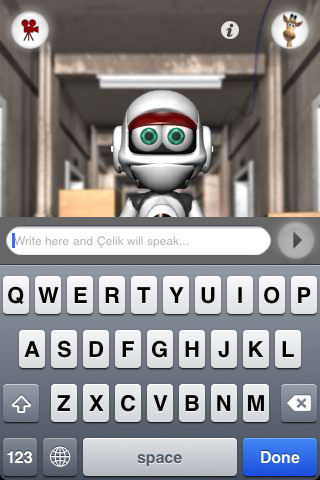 Talking Roby Celik the Robot