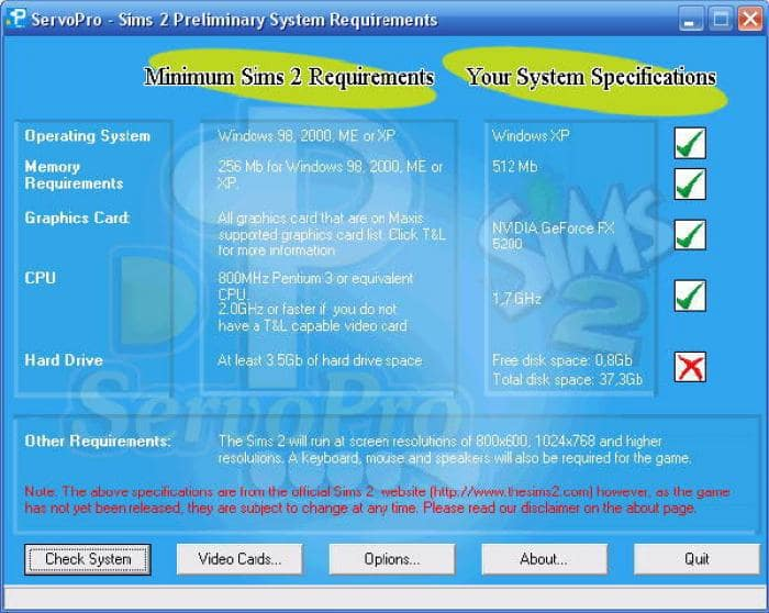 ServoPro TS2 System Requirements Checker