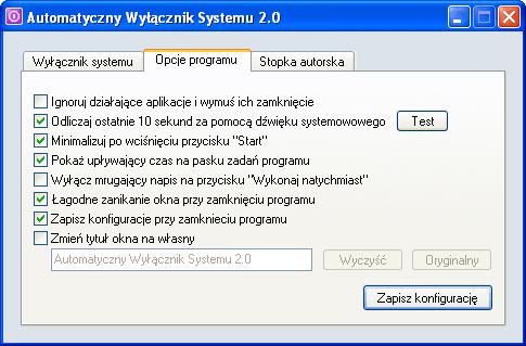 Automatyczny Wyłącznik Systemu