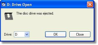 Eject Disc Drive
