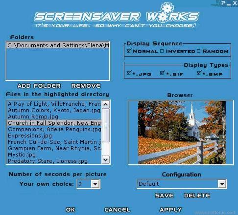 ScreenSaver Works