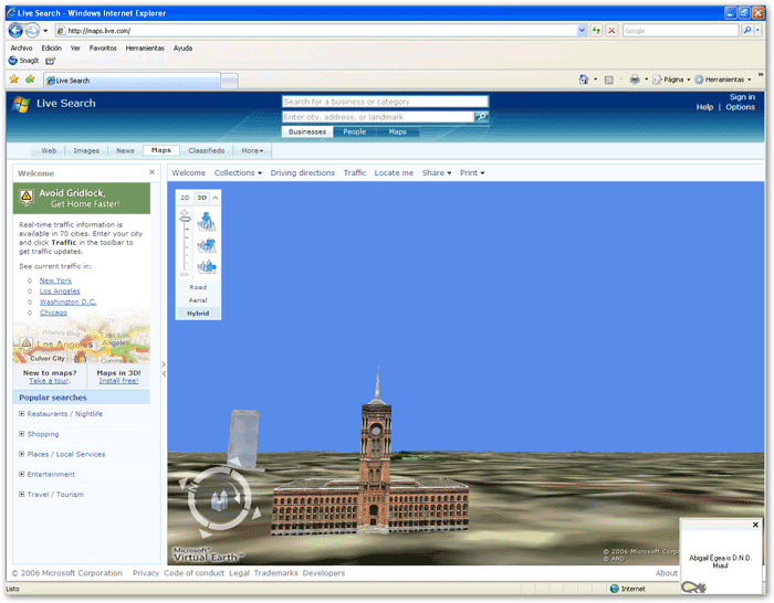 Bing Maps 3D (Virtual Earth 3D)