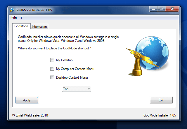 GodMode Installer
