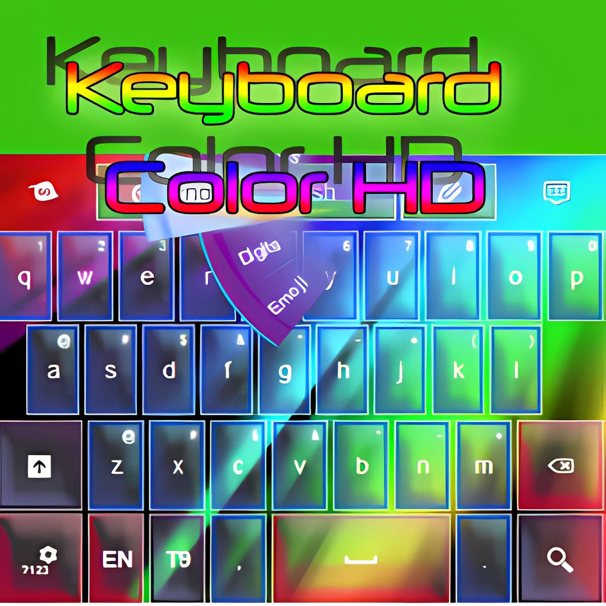 Teclado de color HD
