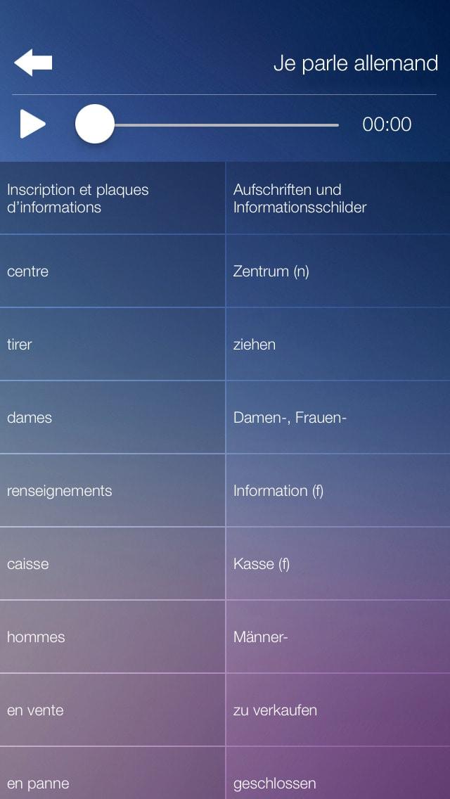 Je Parle ALLEMAND - Traduction cours pour débutants - audio dictionnaire français - allemand