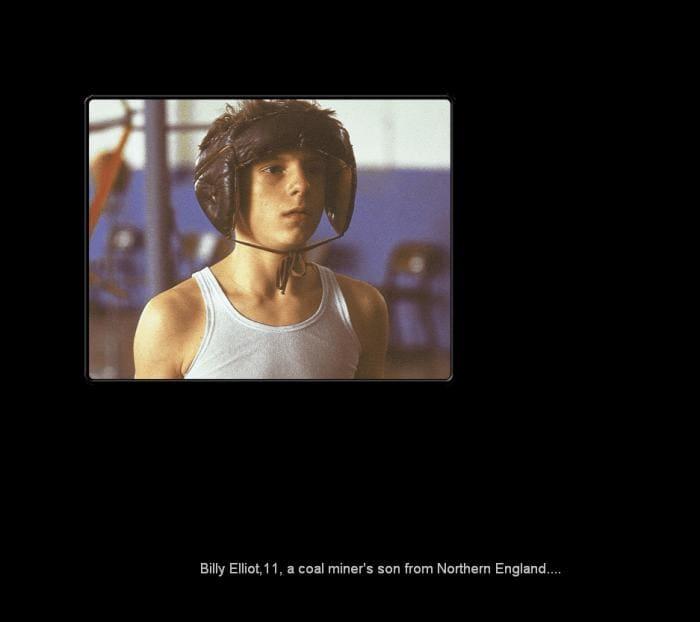 Billy Elliott Screensaver