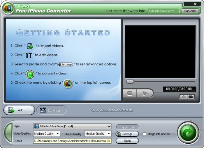 Leawo iPhone Converter