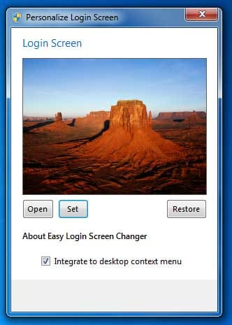 Easy Login Screen Changer