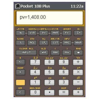 Pocket 10B Plus Business Calculator
