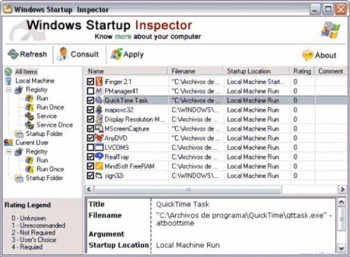 Windows Startup Inspector