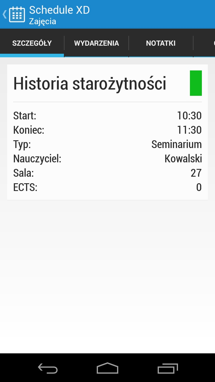 Schedule XD