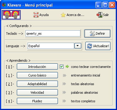 Klavaro Touch Typing Tutor