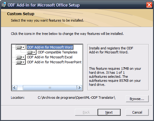 OpenXML-ODF Translator