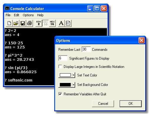 Console Calculador