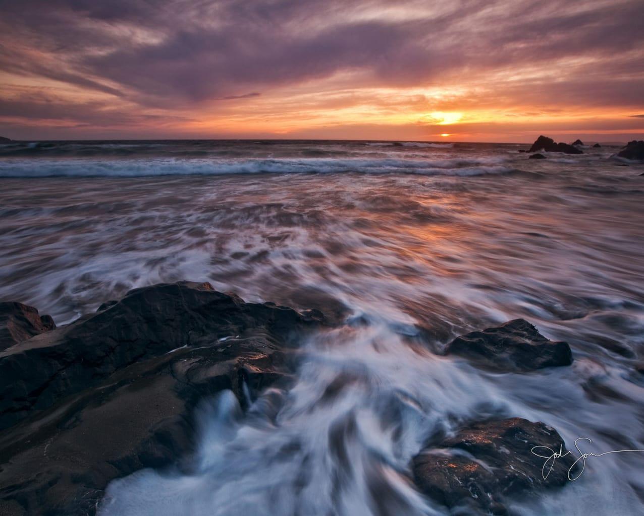 Tema Pores do Sol na Praia