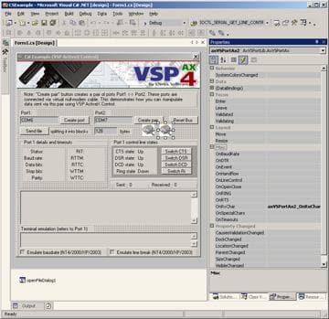 Virtual Serial Port ActiveX