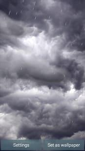 Tormentas eléctricas y lluvia