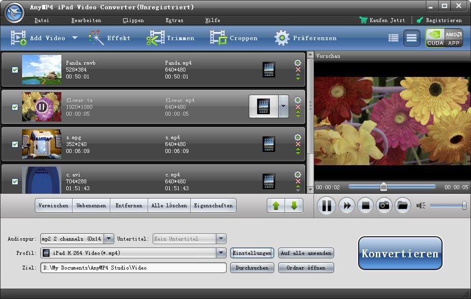 AnyMP4 iPad Video Konverter