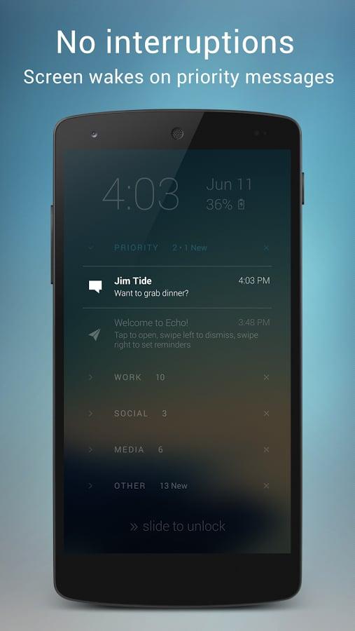 Echo Notification Lockscreen