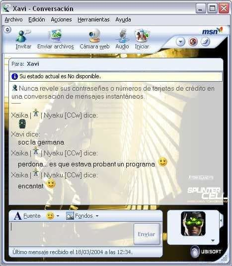 Splinter Cell MSN Messenger Kit
