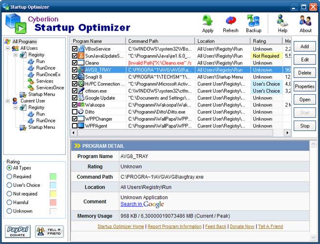 Startup Optimizer