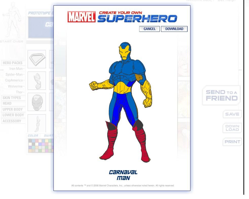 creer un super heros en anglais