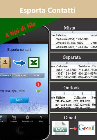 Contatti<->Excel Lite