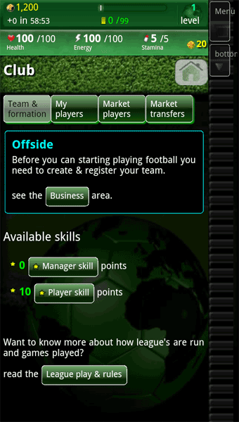 run Football Manager