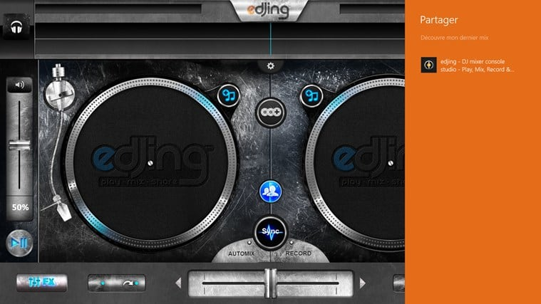 edjing DJ studio music mixer para Windows 10
