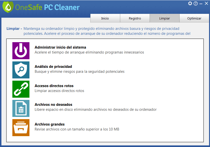 OneSafe PC Cleaner