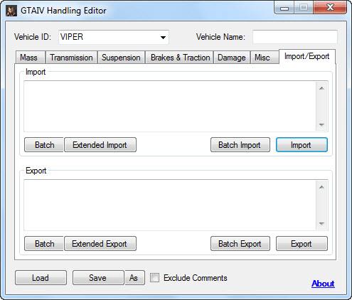 GTA IV Handling Editor