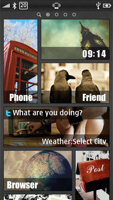 Voyager Home Screen