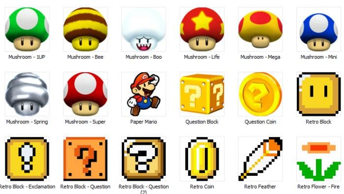 Super Mario Icons